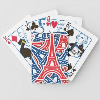Eiffel Tower, France Pattern Poker Deck