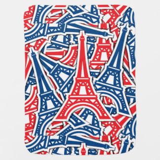 Eiffel Tower, France Pattern Pramblankets