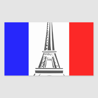 Eiffel Tower France Rectangular Sticker