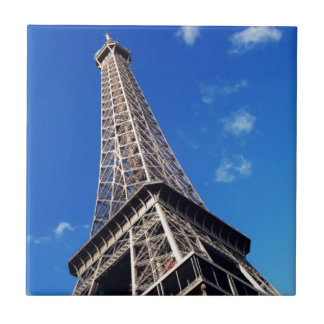 Eiffel Tower France Travel Photography Small Square Tile
