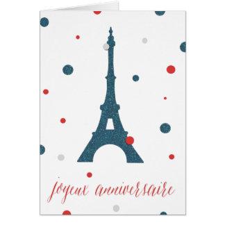 Eiffel Tower French Birthday Card