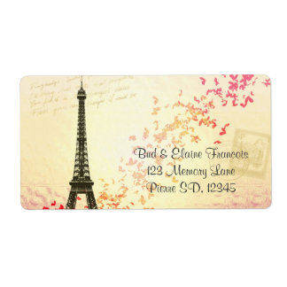Eiffel Tower french labels