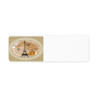 Eiffel Tower French Postcards Return Address Label