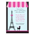 Eiffel Tower Girl Birthday Invitation