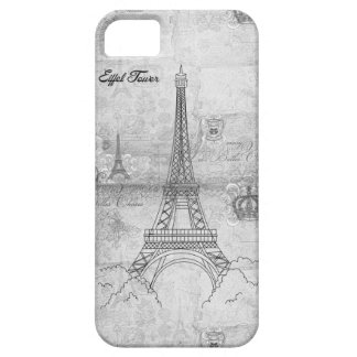 Eiffel Tower Grey iPhone 5 Case