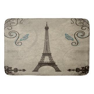 Eiffel Tower Grunge Bath Mat