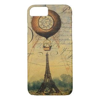 Eiffel Tower Hot Air Balloon Steampunk iPhone 8/7 Case