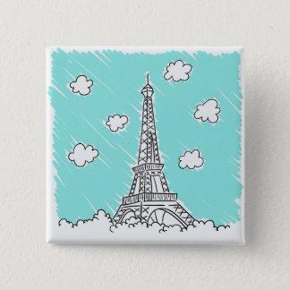 Eiffel Tower Illustration button