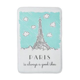 Eiffel Tower Illustration custom bath mats
