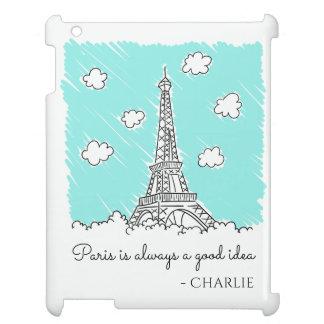 Eiffel Tower Illustration custom device cases iPad Cases