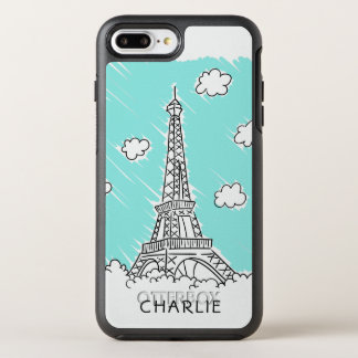 Eiffel Tower Illustration custom name phone cases