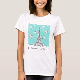 Eiffel Tower Illustration custom text clothing T-Shirt