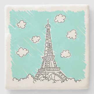 Eiffel Tower Illustration stone coasters