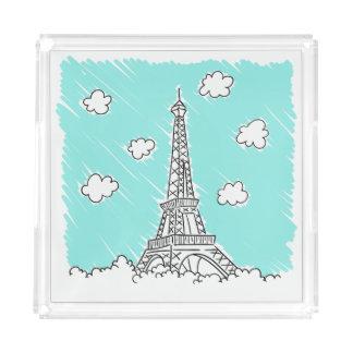 Eiffel Tower Illustration trays