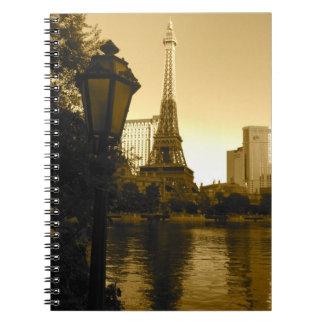 Eiffel Tower in Las Vegas Spiral Notebook