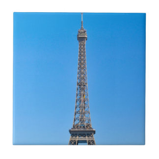 Eiffel Tower in Paris, France Small Square Tile