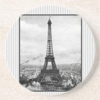 Eiffel Tower In Paris Striped Vintage Coaster