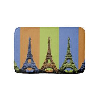 Eiffel Tower in Paris Triptych Bath Mat