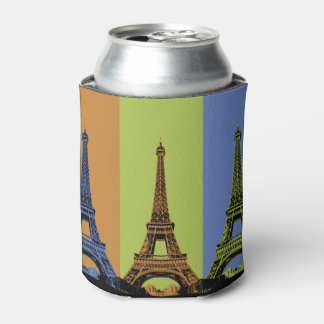 Eiffel Tower in Paris Triptych Can Cooler