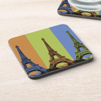 Eiffel Tower in Paris Triptych Drink Coaster