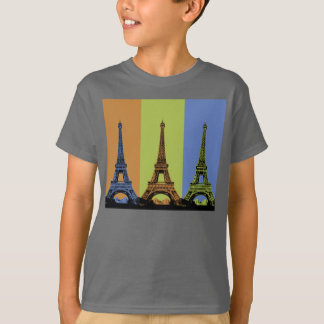 Eiffel Tower in Paris Triptych T-Shirt