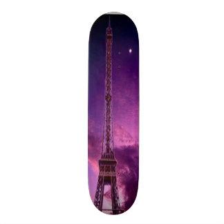 Eiffel Tower in sunshine sky Skate Board Deck