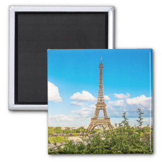 Eiffel Tower in the Clouds Photo Magnet