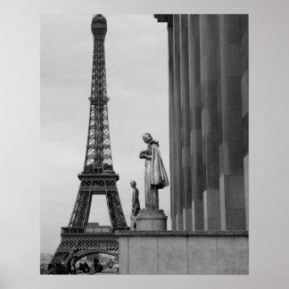 Eiffel Tower is a 19th century iron lattice Poster