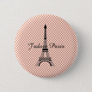 Eiffel tower J'adore Paris 6 Cm Round Badge