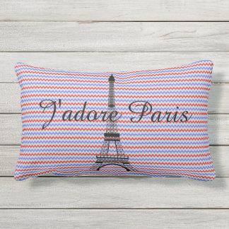 Eiffel tower J'adore Paris Lumbar Cushion