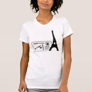 Eiffel Tower Je t'aime Postcard Women T-shirt