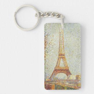 Eiffel Tower Single-Sided Rectangular Acrylic Key Ring
