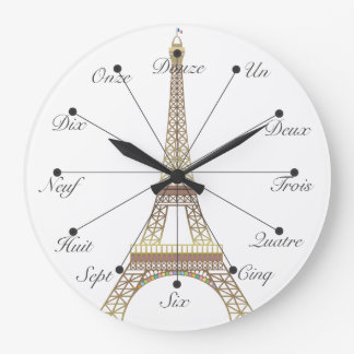 Eiffel Tower Large Wall Clock