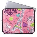 Eiffel Tower Love Paris France Pink Laptop Sleeves