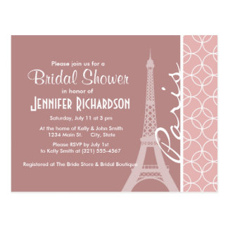 Eiffel Tower; Mauve Circles Postcard