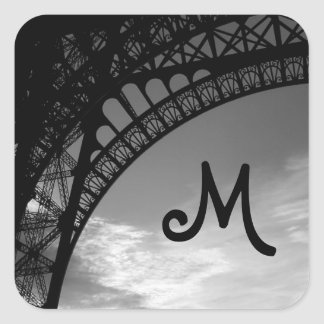 Eiffel Tower Monogram Envelope Seals