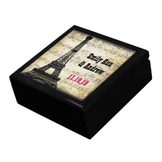 Eiffel Tower Musical Notes Keepsake Jewelry Box