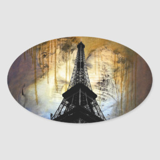 Eiffel Tower Oval Sticker