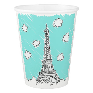 Eiffel Tower paper cups