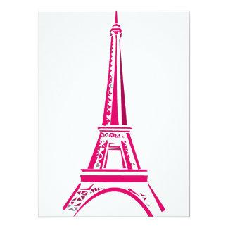 Eiffel Tower Paris 14 Cm X 19 Cm Invitation Card