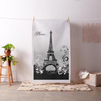Eiffel Tower Paris (B/W) Tapestry Fabric