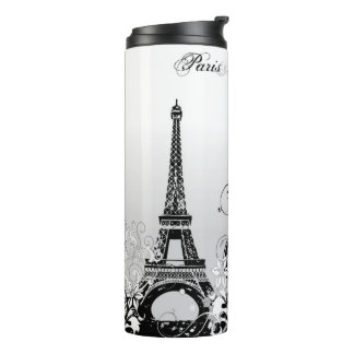 Eiffel Tower Paris (B/W) Thermal Tumbler