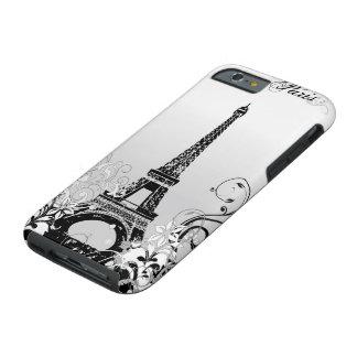 Eiffel Tower Paris B/W Tough iPhone 6 Case