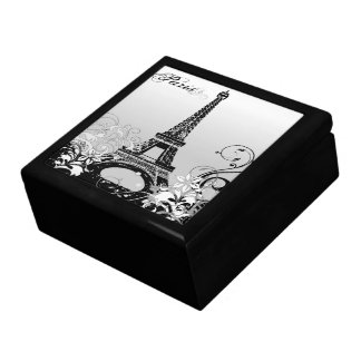 Eiffel Tower Paris (B/W) Trinket Box