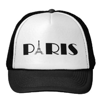 Eiffel Tower Paris Black & White Cap