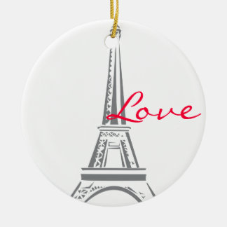Eiffel Tower-Paris Ceramic Ornament