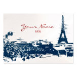 Eiffel Tower Paris Cityscape Sketch Chubby Cards Pack Of Chubby Business Cards