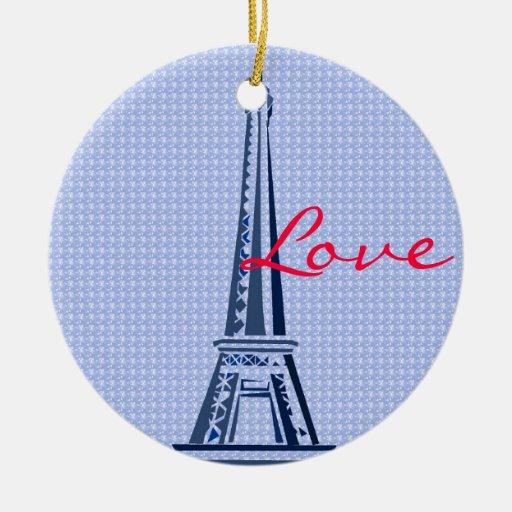 Eiffel Tower- Paris Christmas Ornament