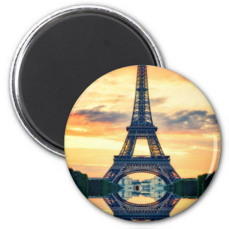 Eiffel Tower Paris Evening European Travel Magnet