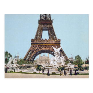 Eiffel Tower, Paris France 1889 Postcard